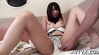 Naughty asian babe give astonishing cock sucking pleasures