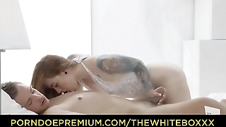 Slay rub elbows with WHITE BOXXX - Beautiful Czech redhead Foxy Sanie enjoys passionate sex with her lover