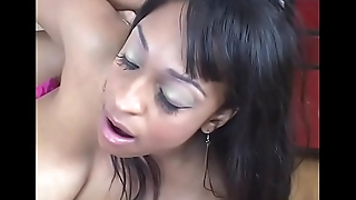 Greedy black brunette with big flabby tits Carmen Hayes begs for good fucking
