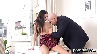 Nice schoolgirl gets seduced and fucked by older teacher