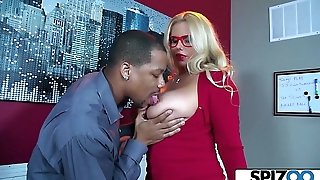 Spizoo - Karen Fisher is fucked by a Heavy Black Cock, big booty &amp_ big boobs