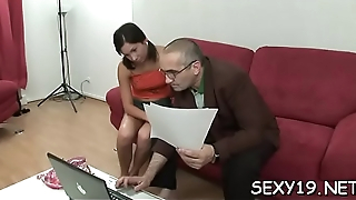Horny old teacher is pounding chick'_s dote on tunnel tenaciously