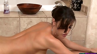 MILF masseuse cocksucking in sixtynine pose